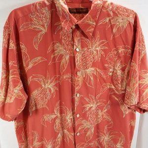 Tori Richard Pineapple Print Button Down Shirt L